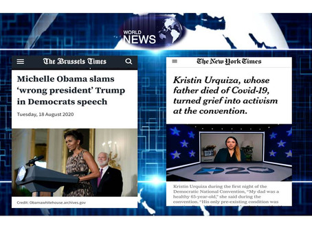 """M.Obama:""""Trump is The Wrong President for this Country"""";Kristin:""""Father Died Felt Betrayed by Trump"""""""
