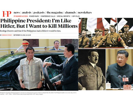 The Story Behind Duterte's Hitler Remark that Most Filipinos and Political Analysts Still Don't Know