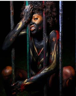 BodyPaint: @TheCharlyMagazine  MUA: @BKBlue88  Creative Director: @TazzPaul  Photographer: @RedEyrisFilms