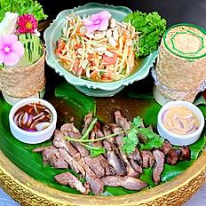 E-San Classic Set Pork (ko Moo Yang)