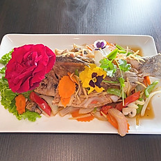 Whole Fish-with Ginger Sauce