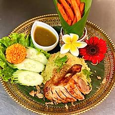 Thai Biryani Crispy Duck