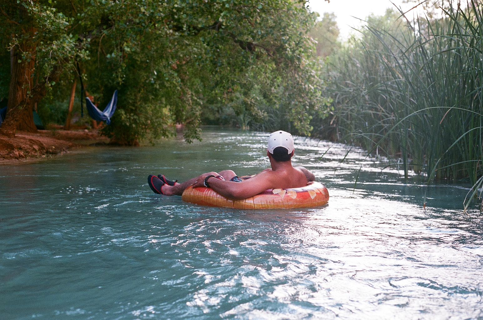 Johnny Riding Raft