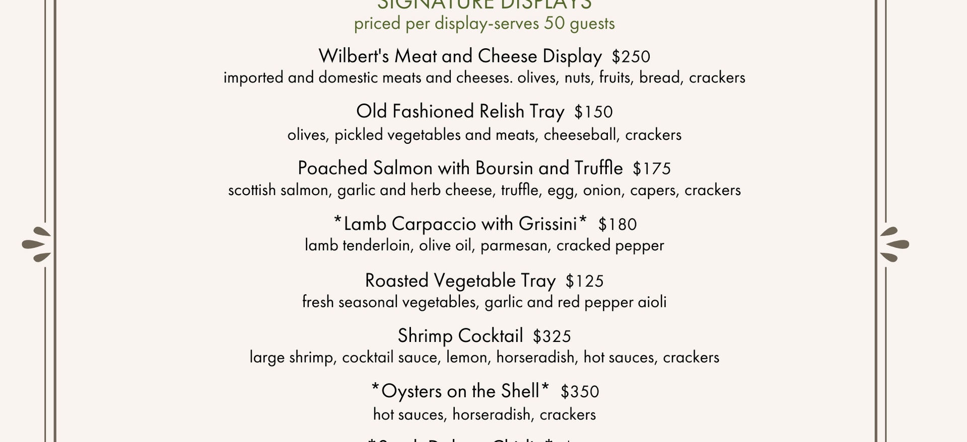Wilbert's Event Center Menu page-1.png
