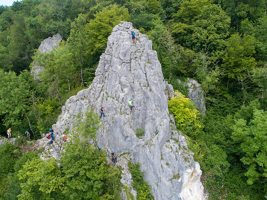 Klettersteig en single pitch zondag Zout