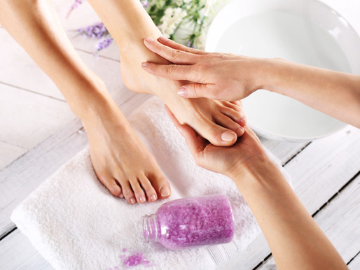Pamper yourself with a foot care