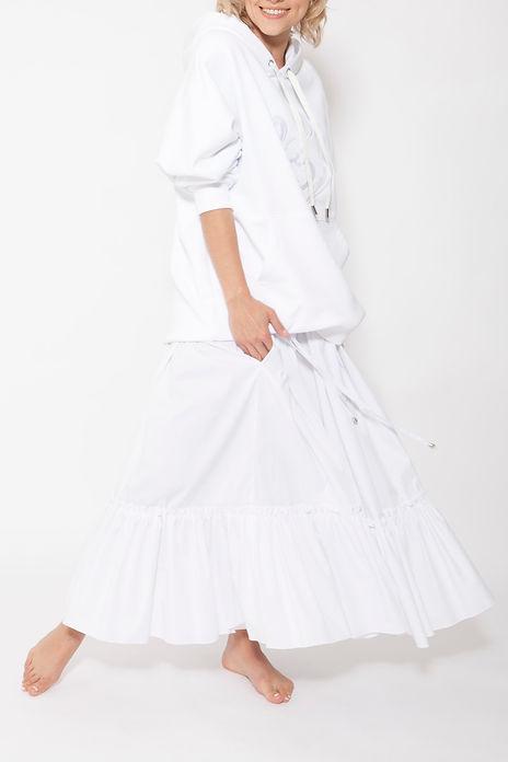 Белая юбка из хлопка Chiave Atelier