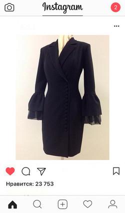 Платье пиджак заказать пошив