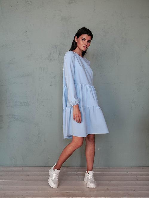Платье-трапеция ярусное