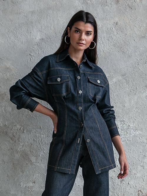 Жакет-рубашка джинсовый