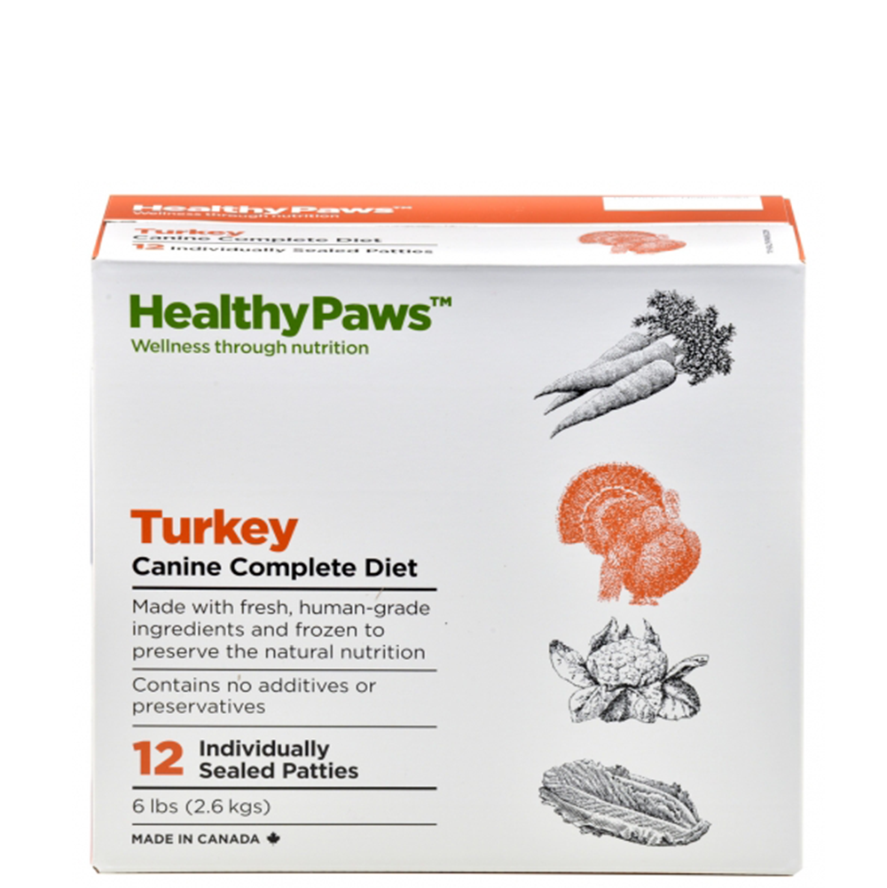 Healthy Paws Turkey Raw