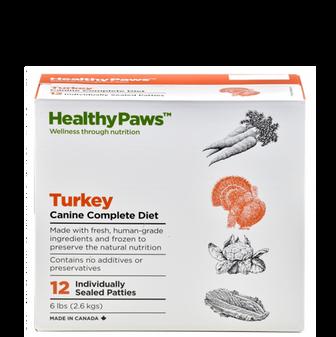 Healthy Paws Turkey Raw