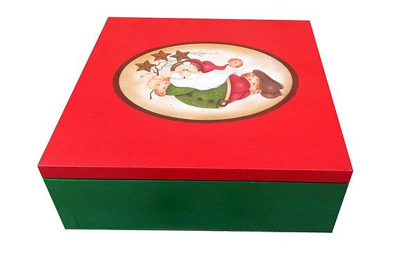 Caixa natalina em madeira