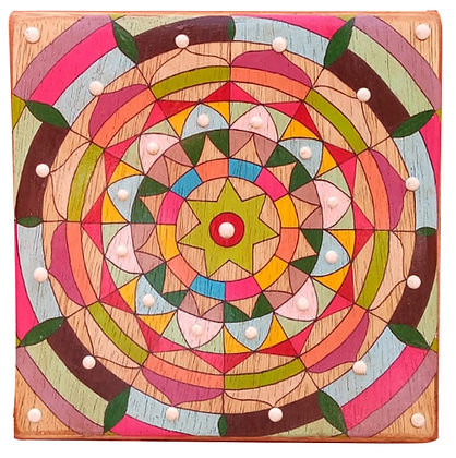 Mandala em madeira