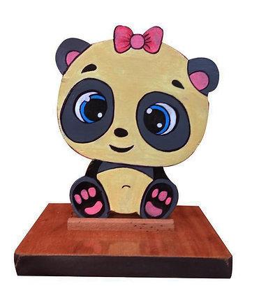 Panda em madeira
