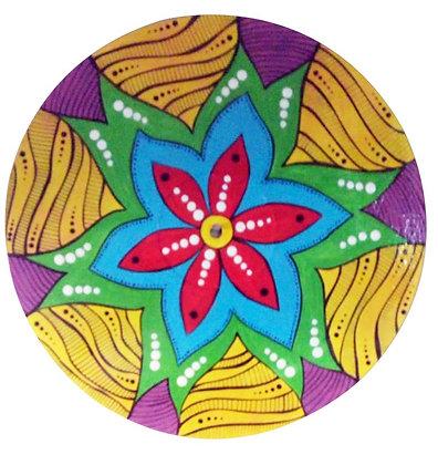 Pintura em disco de vinil