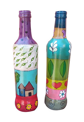 Par de garrafas decorativas