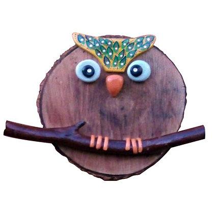 Peça em madeira - Coruja