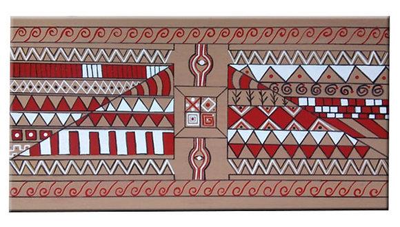 Inspiração Marajoara - Quadro em madeira