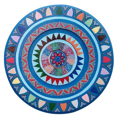 Mandala em madeira e CD