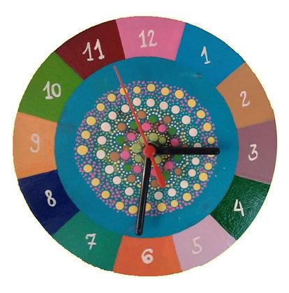 Relógio colorido