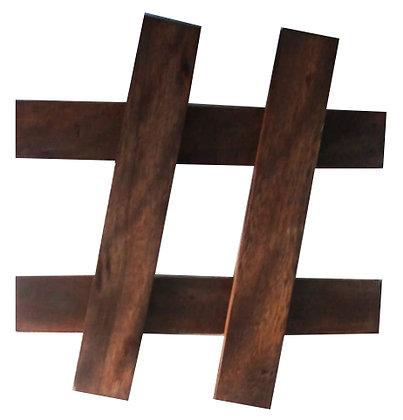 Rashtag de madeira