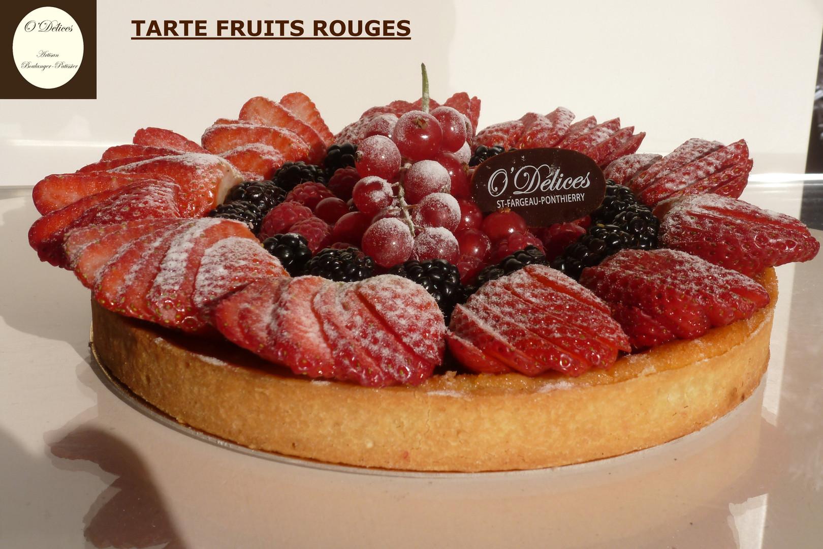 TARTE FRUITS ROUGES