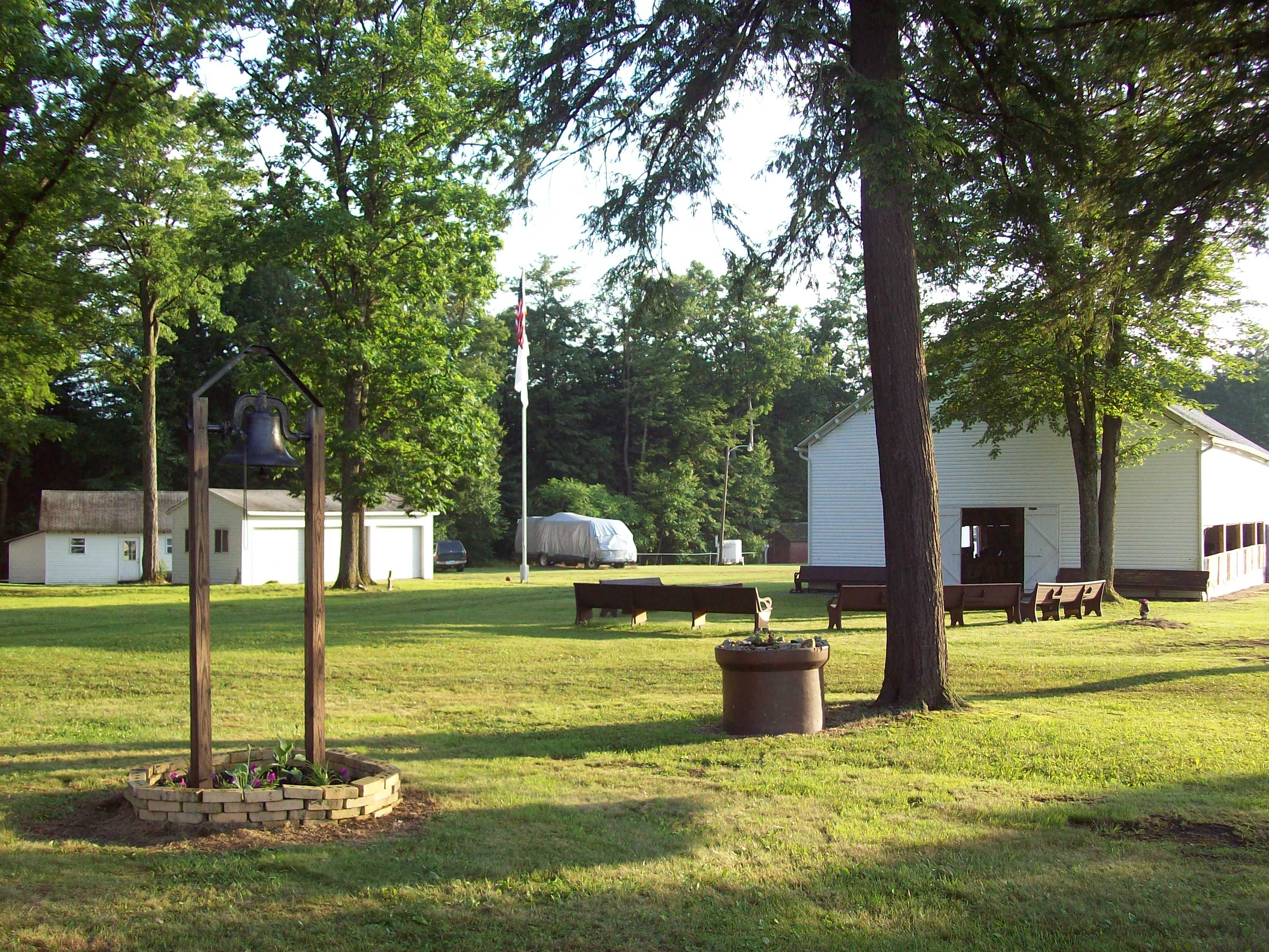 View of campground