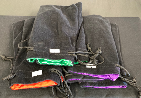 Dice Bags - Green, Purple, Red