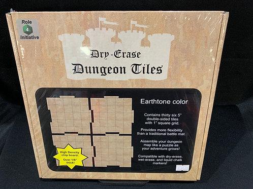 Dry Erase Dungeon Tiles Earthtone
