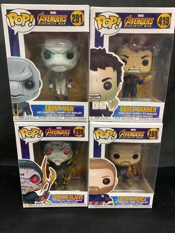 Avengers Infinity War Pops!