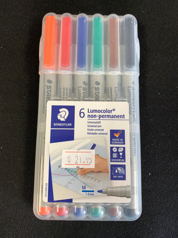 Wet Erase Markers 6 Pack