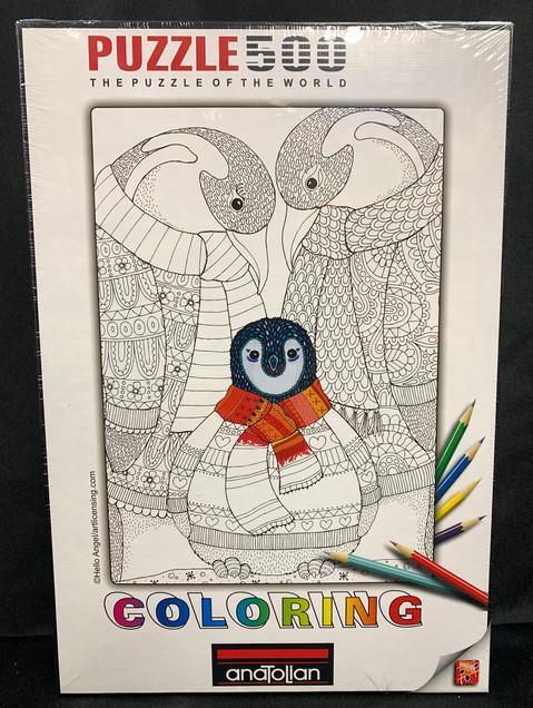Penguin Colouring 500 Puzzle
