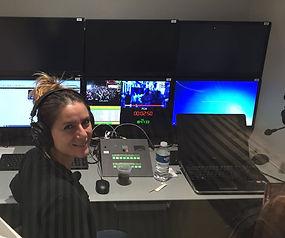 Basak Balkan interpreting at Euronews Lyon