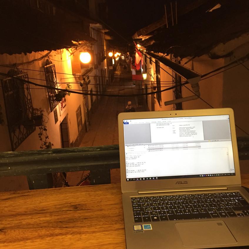 Working in San Blas