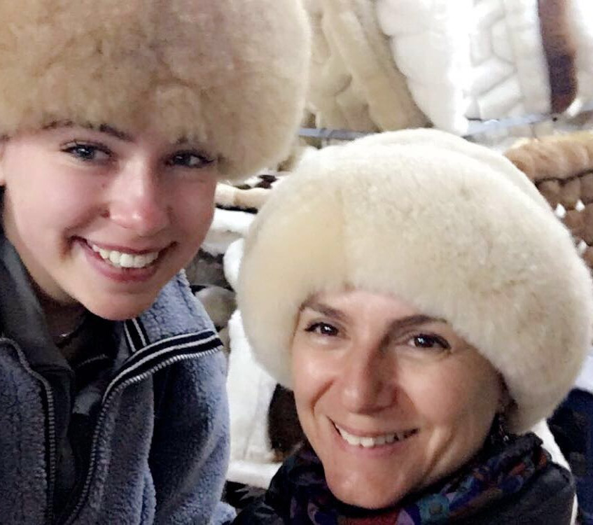 Laura and I look good in alpaca skin! Mere alpaca wool seemed so cold after this.