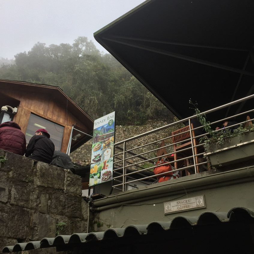 It just seemed funny to see this wifi sign up in Machu Picchu. This is the entrance, with the restaurants and toilets and stuff.