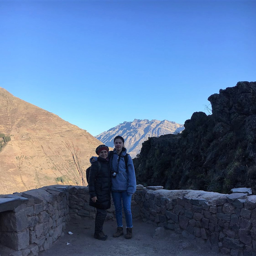 Laura and I at Pisac