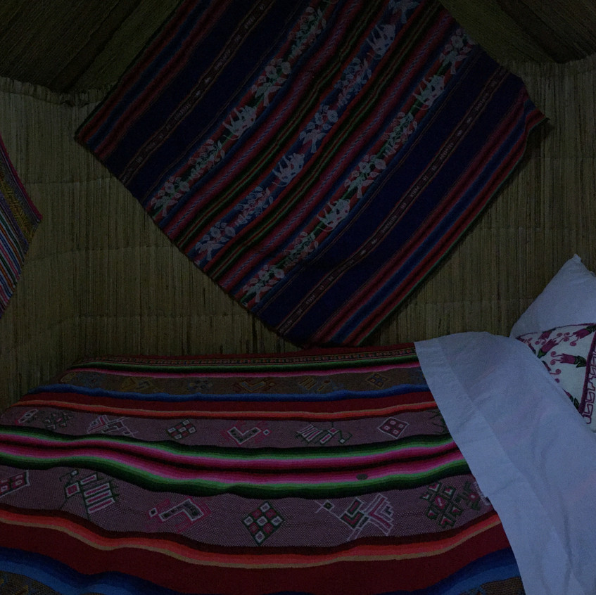 Oops this is the inside of my hut at Uros (floating islands)