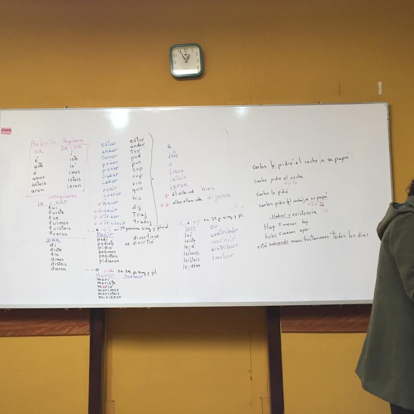 My teacher and Spanish grammar!