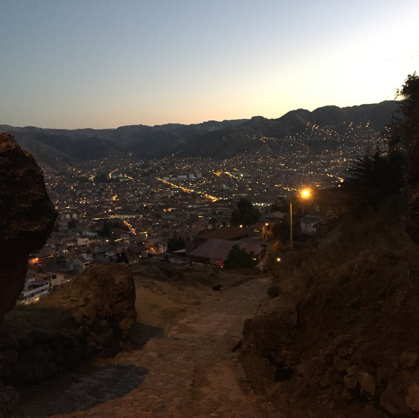 The view from the Inca ruins above Cusco