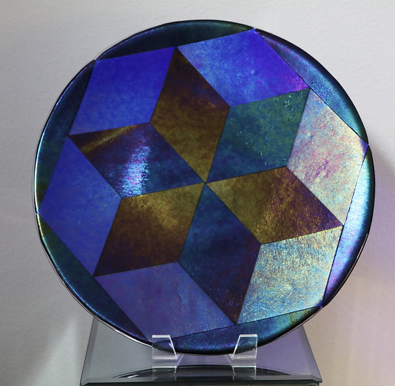 Large Plate with Cubes