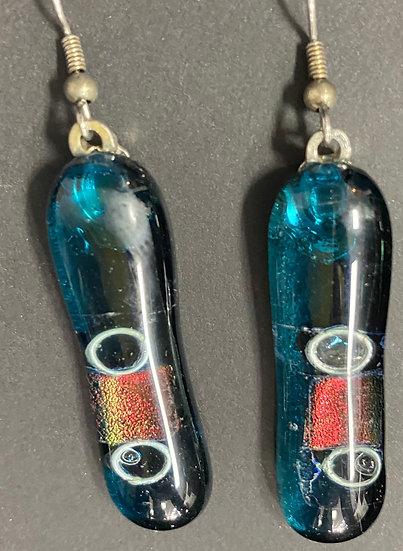Fused glass earrings 13