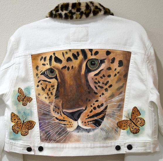 Leopard and Butterflies