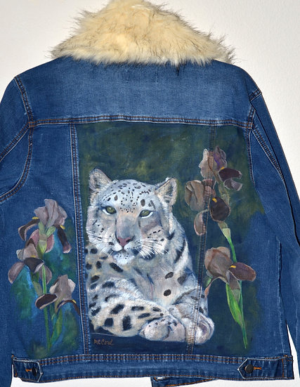 Leopard and Irises