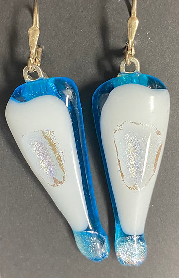 Fused glass earrings 12