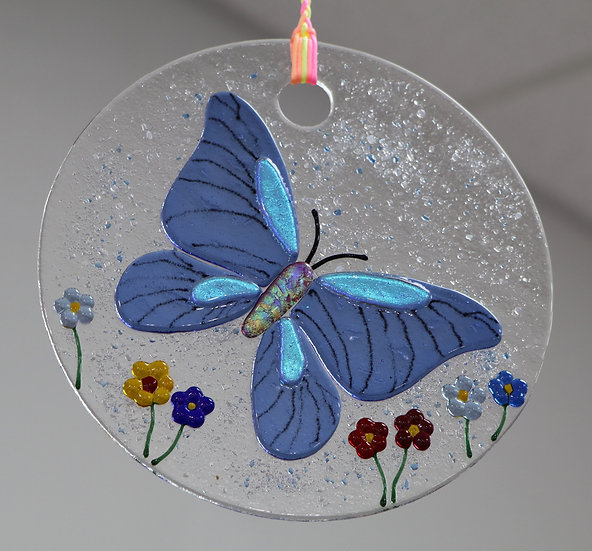 Blue Butterfly Sun Catcher