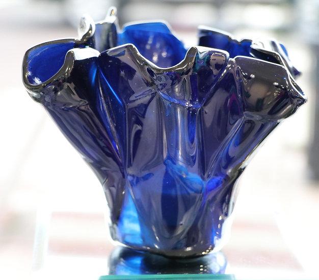 Turqoise Medium Folded Candle Holder