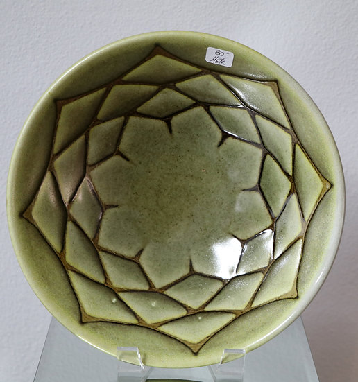 Tan Flower Bowl