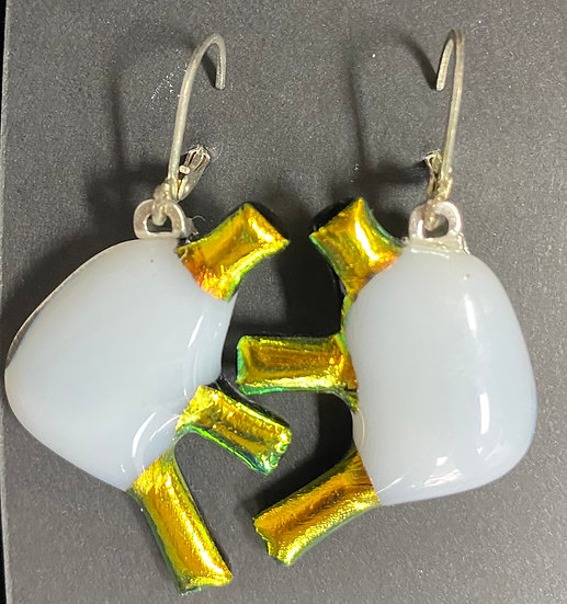 Fused glass earrings 8